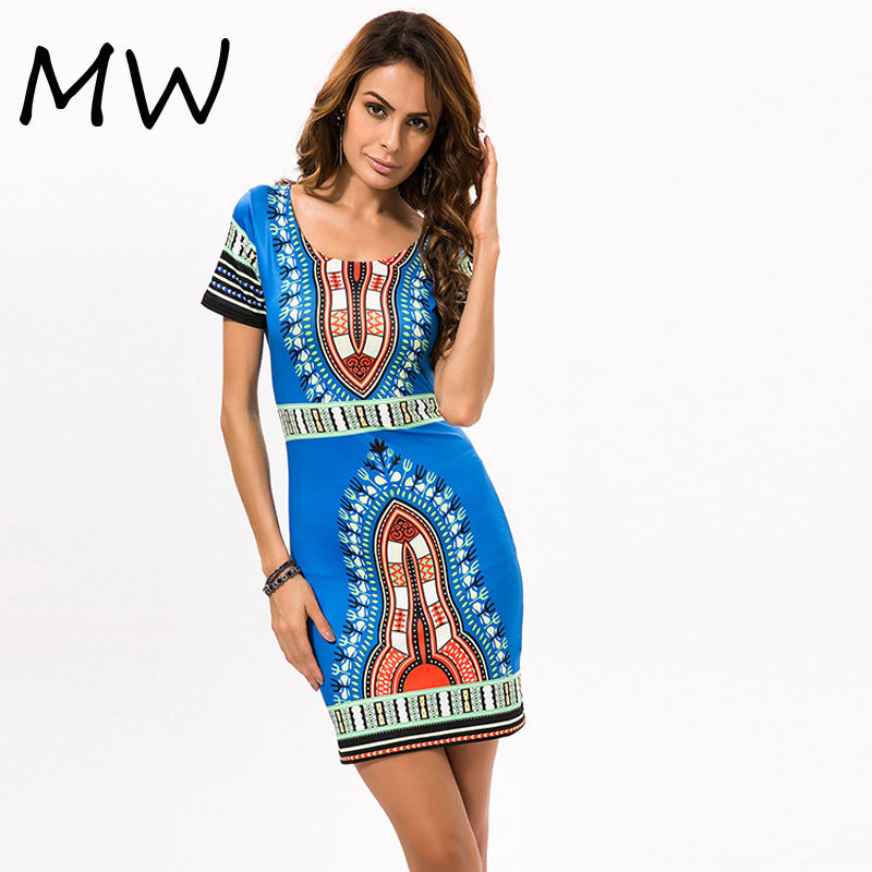 c5f61826e951 2018 African Print Dresses for Women Africa Clothing Traditional Dashiki  Dresses Fashion Designs Plus Size Dress