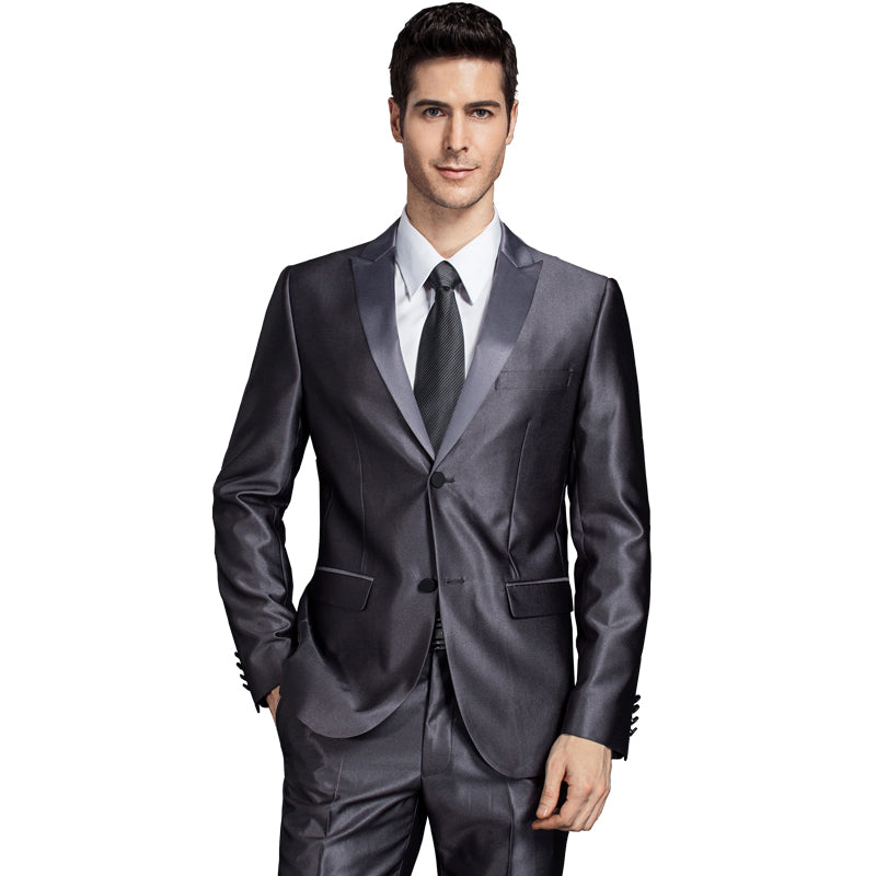 Slim fit Formal Suit in the Latest Coat and Pants Designs. 2018 Men Groom  Wedding ... 6b9873d00394