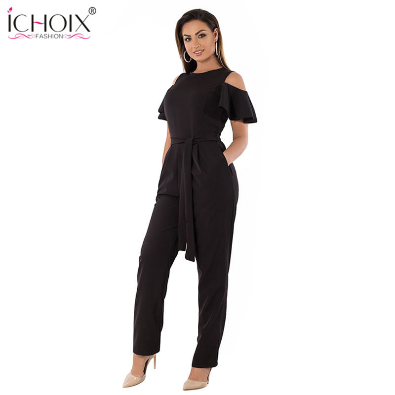 Sexy Off Shoulder Romper Overall available in Plus size. 5XL 6XL Summer  Plus Size Jumpsuit women ... 3727beb6b5cc