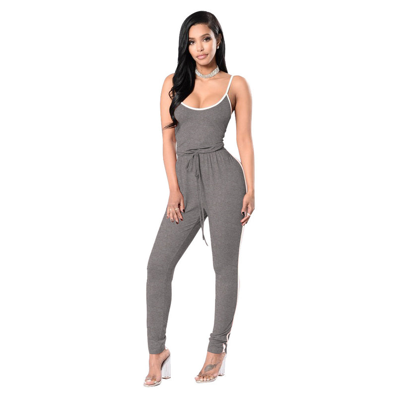 e992c5d5d90 6 Colors 2018 New Summer Strapless Spaghetti Strap Striped Sexy Women  Rompers And Jumpsuits Plus Size