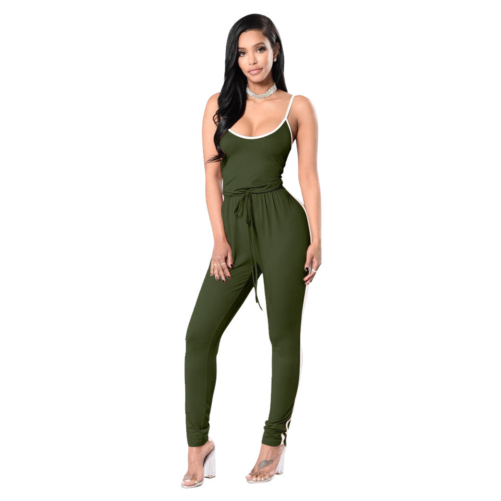 3823c6244718 6 Colors 2018 New Summer Strapless Spaghetti Strap Striped Sexy Women  Rompers And Jumpsuits Plus Size Long Overalls Bodysuit
