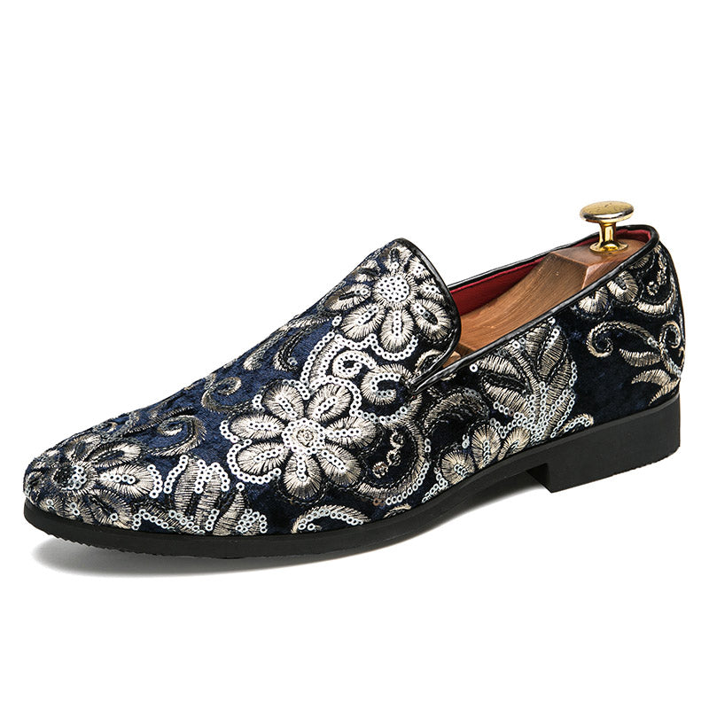 9b441178ef3 AGSan Embroidered Loafers Men Velvet Shoes Black Designer Mens Smoking  Slippers Male Wedding and Party Loafers