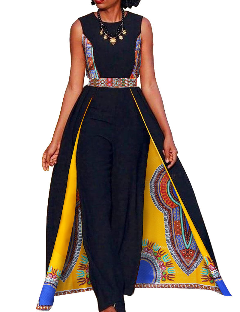 dbe1b15d894f Elegant African Queen s Sleeveless Dashiki Cape w  Pants available in Plus  Size