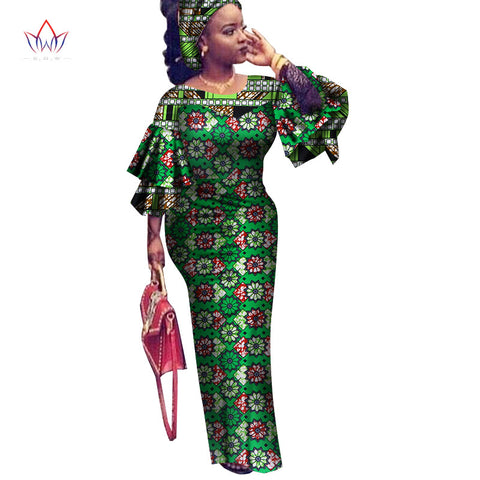 d6d4c567f5e BRW African Dress for Women summer Vintage Maxi long-party-dress Dashiki  embroidery african riche bazin Femme Plus Size WY2561 1 2