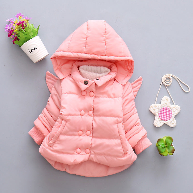 b3fa5d9da LZH Baby Girls Jacket 2018 Autumn Winter Jacker For Girls Coat Kids ...