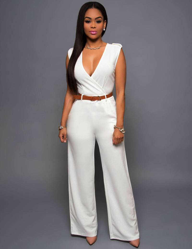 185888a5a Elegant Jumpsuit with Leather Belt – Ginavece s