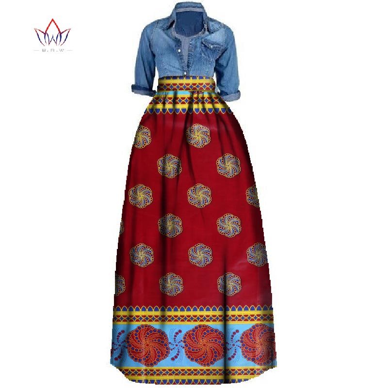 New African Print Summer Skirt For Women Plus Size Dashiki African