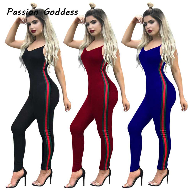 e49fbc42425b New Bodycon Pants Long Jumpsuits Women Macacao Party Rompers Jumpsuits  Sleeveless Overalls Retro Strapless Playsuits Oversized