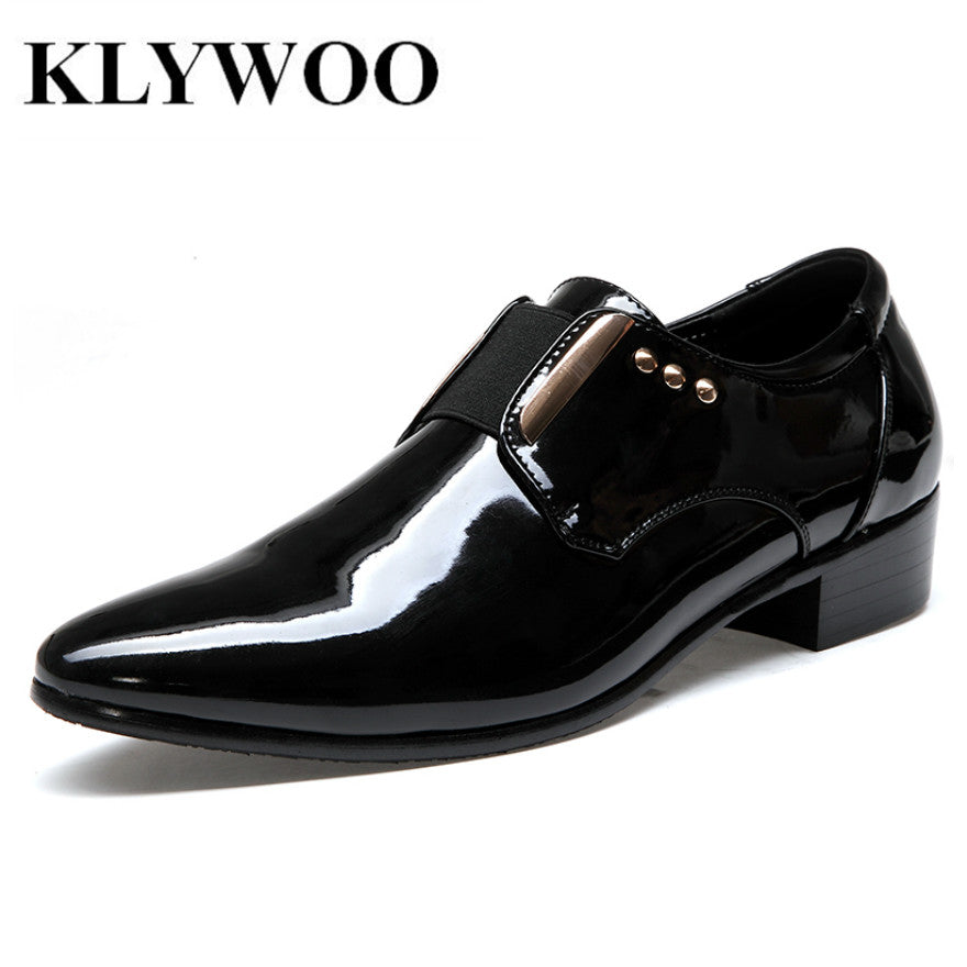 bd1bc0171689a Plus Size 38-46 New Fashion Pointed Toe Men Leather Shoes For Men Wedding  Formal Dress Shoes Particles Oxford Leather Men Shoes
