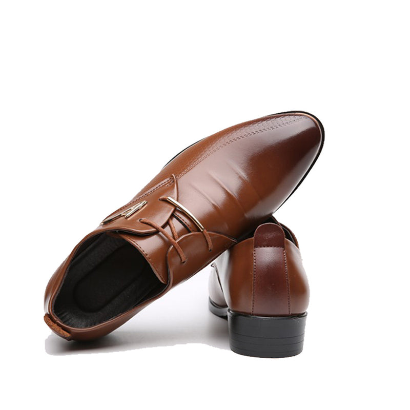 473a131c9a31 QFFAZ New Fashion Wedding Shoes Men Pointed Toe Oxfords Man Dress Leather  Shoes Formal Zapatos Hombre