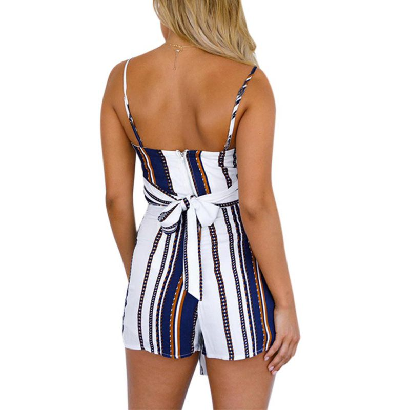 913a2ad9e41fe Summer Sexy Women s Sets Striped Blue 2 Pieces Set Crop Top And Lace-up  Shorts Elastic Waist Two Piece Set Women Clothes