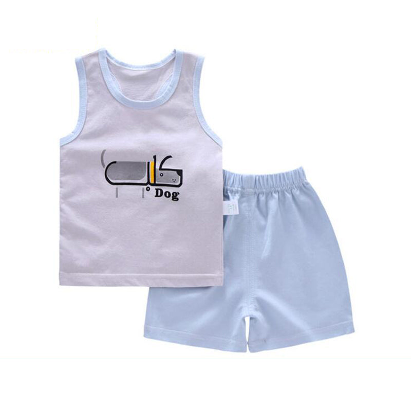 2b7e2d4f203af8 Summer children clothing Sleeveless Tops+Pants 2pcs set Toddler baby  clothes girls boutique outfits suit