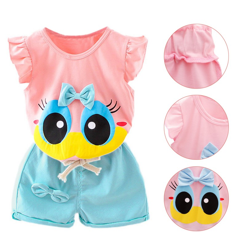 fbc4d47d2969b WEIXINBUY Summer Infant Baby Girl Clothing Sport Lovely Long Eyelashes Toddler  Girl Vest Pants Pure Cotton Suit Kids Clothes