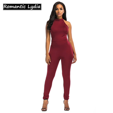 c8a9948cf23 Women s SexyBackless Halter Bodycon Club Catsuit Romper.  27.76.  63.53. Summer  Rompers Women S Jumpsuit Sexy Ladies Casual Elegant Sleeveless Long ...