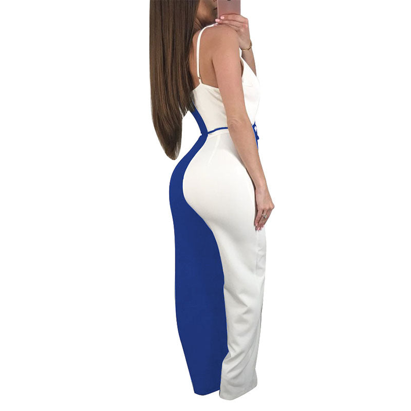 4782283c4d2 Sexy 2 Tone Sleeveless Jumpsuit. 2019 Women s Sexy Rompers ...