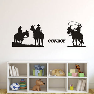 Western Cowboy and Horse Wall Sticker