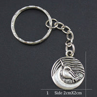 Horse Head Medallion Key Ring