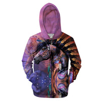 Dynamic Color Horse and Eagle Sweatshirt