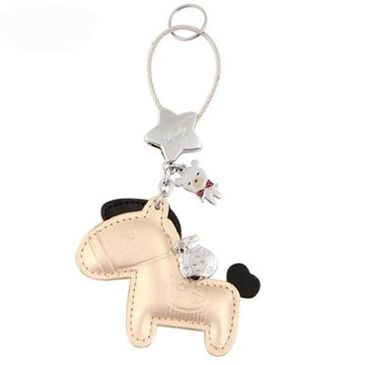 Leather Pony Key Chain Cut Out