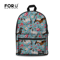 Canvas Horse Print Backpack - Several Styles