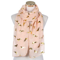 Gold Accent Ladies Scarf