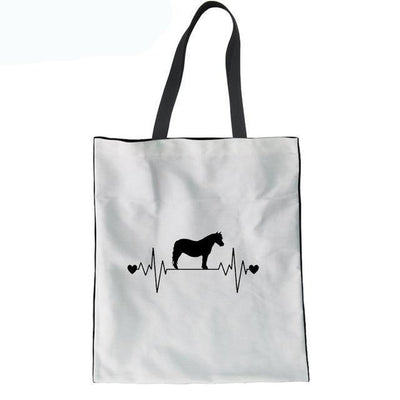 My Heart Beats For My Horse Tote Bag