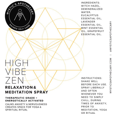 High Vibe Zen Relaxation and Meditation Spray