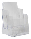 "LHF-S112: Clear Acrylic 2-Tier Brochure Holder for 6""w Literature:"