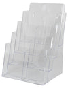 "LHF-S84: Clear Acrylic 4-Tier Brochure Holder for 8.5""w Literature:"