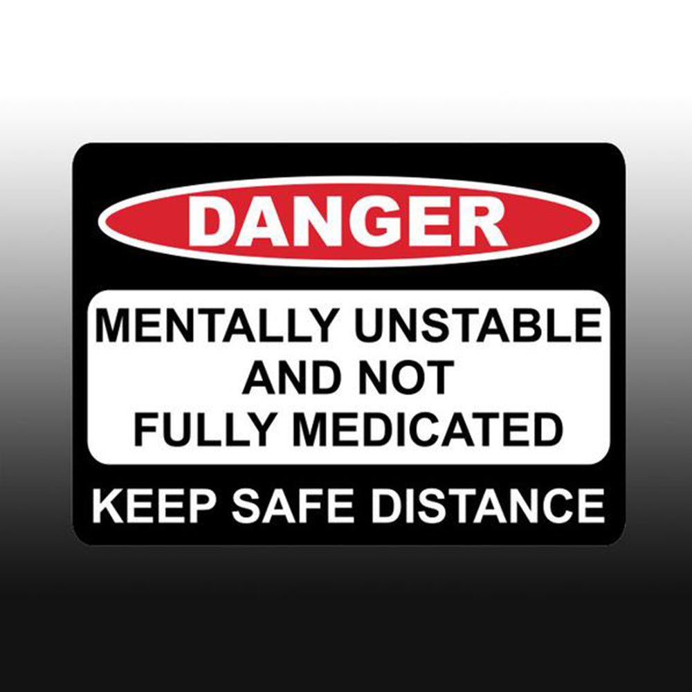 DANGER BUMPER STICKER