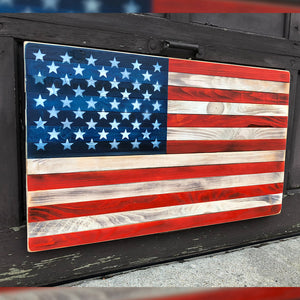 HANDMADE WOOD AMERICAN FLAG (LIMITED EDITION)