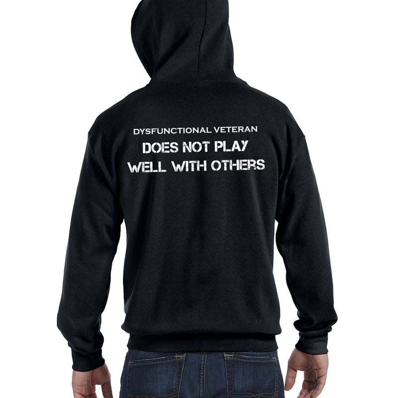 DOES NOT PLAY WELL ZIP HOODIE