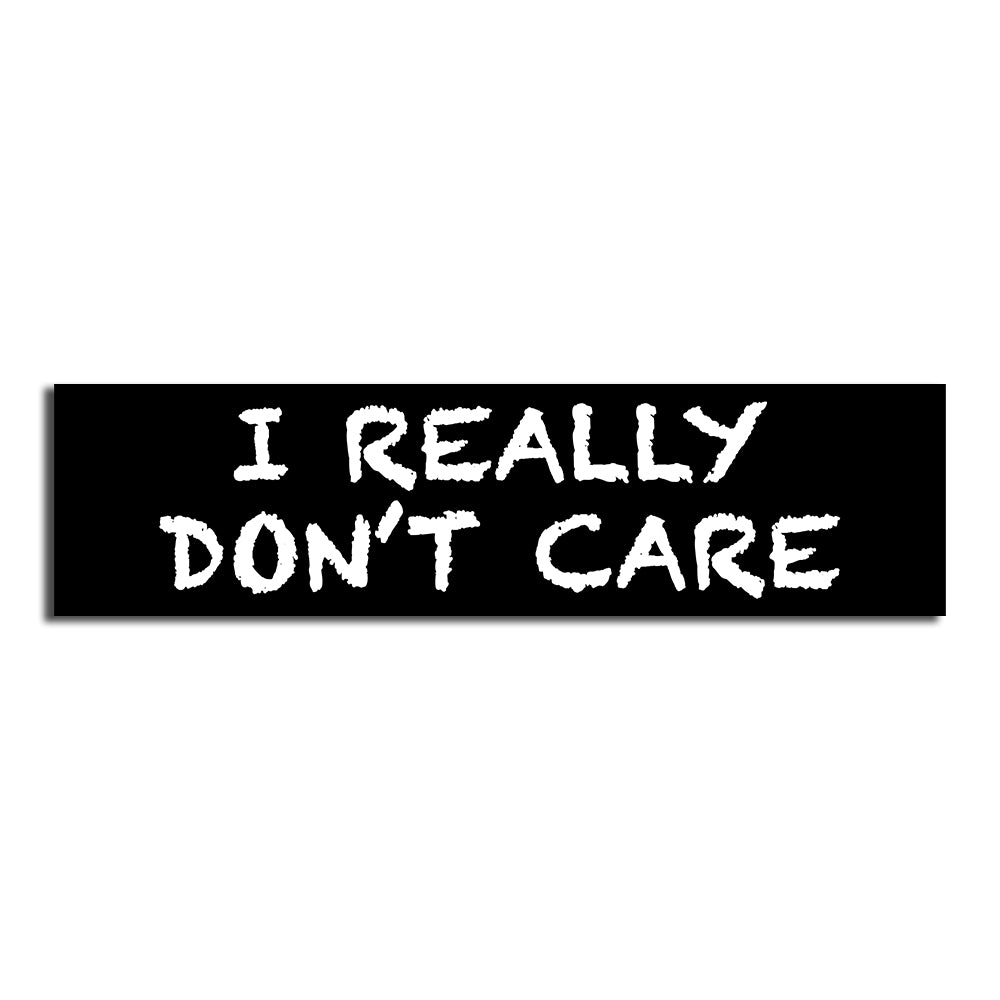 I REALLY DON'T CARE BUMPER STICKER