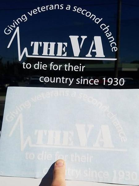 THE VA WINDOW DECAL