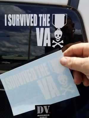 I SURVIVED THE VA WINDOW DECAL