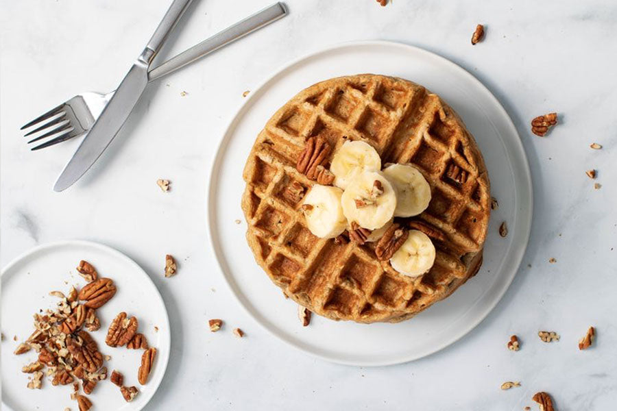 Gluten and lactose free healthy waffle