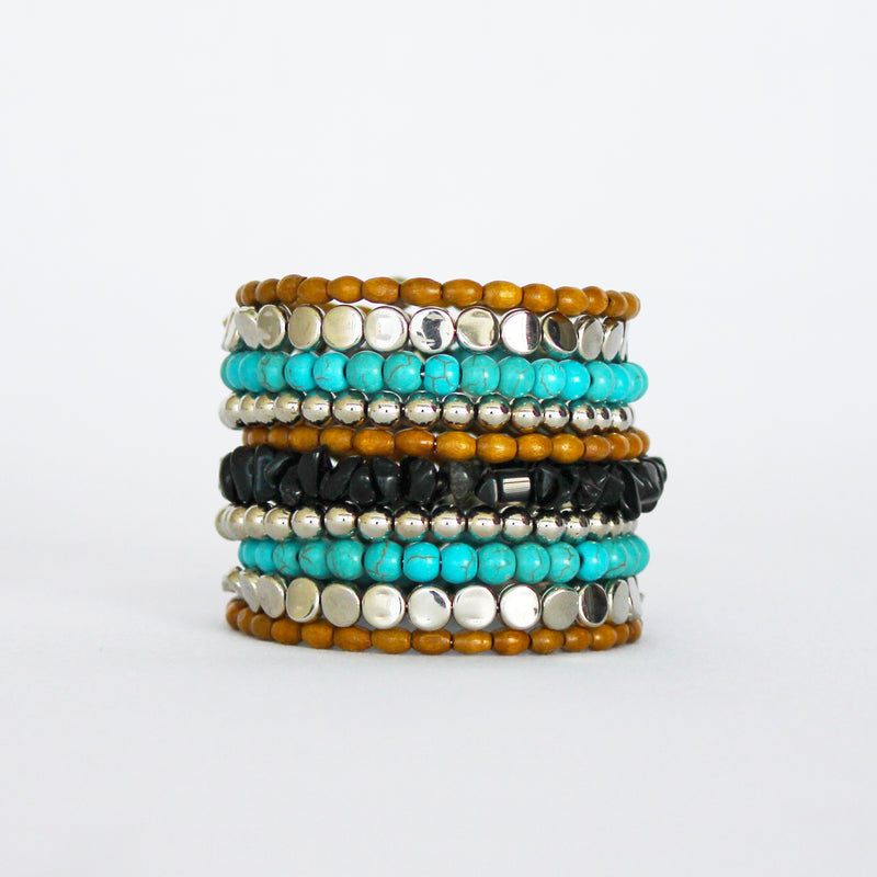 Multicolor Bead Bangle - Elegance's Swim