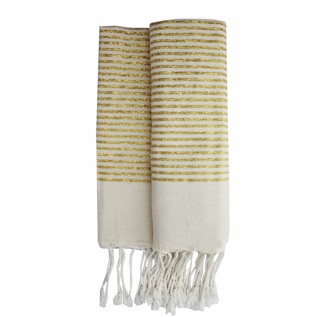 Bee gold stripes Fouta - Elegance's Swim