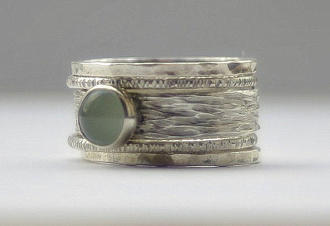 unique aquamarine earthy wedding ring