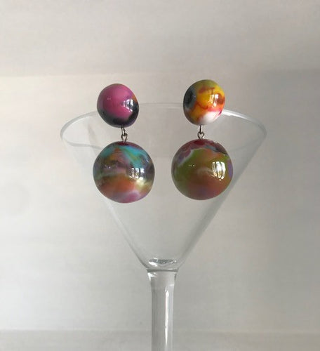 Jackie Brazil Multi Colored Ball Earring
