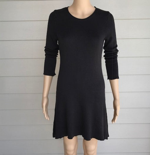 M. Rena Charcoal Sweater Dress