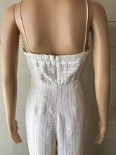 Load image into Gallery viewer, Winter White and Cream Tonal Stripe Jumpsuit