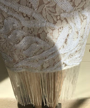 Load image into Gallery viewer, Ivory Sequin Fringe Dress