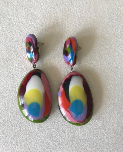 Jackie Brazil Double Pendant Earrings