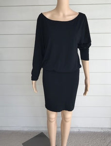 M. Rena Black Off Shoulder Dress