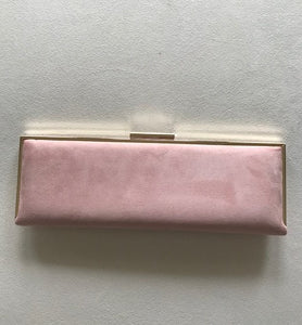 Sleek Suede Blush Clutch by German Fuentes