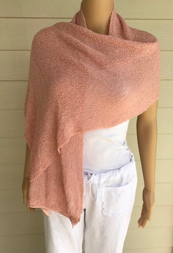 Blush Colored Knit Scarf by Lost River