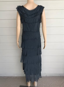 Charcoal Silk Dress by Look Mode