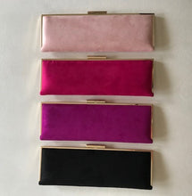 Load image into Gallery viewer, Sleek Suede Blush Clutch by German Fuentes