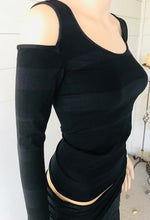 Load image into Gallery viewer, Last Tango Black Cold Shoulder Top
